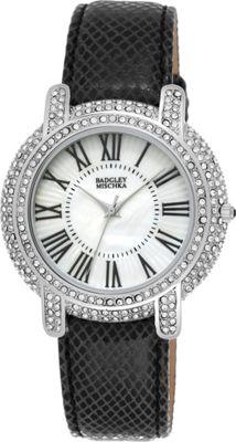 Image of Badgley Mischka Watches Round Crystal Watch Black - Badgley Mischka Watches Watches