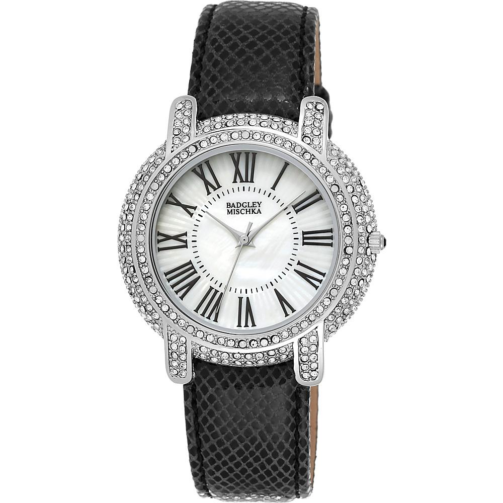 Badgley Mischka Watches Round Crystal Watch Black - Badgley Mischka Watches Watches