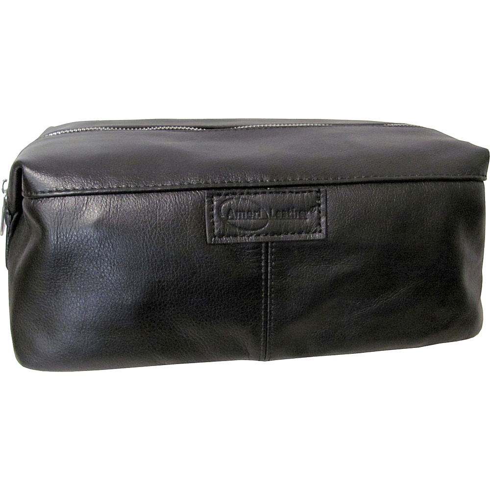 AmeriLeather Cosmetic/Travel Accessory Bag Black - AmeriLeather Toiletry Kits - Travel Accessories, Toiletry Kits