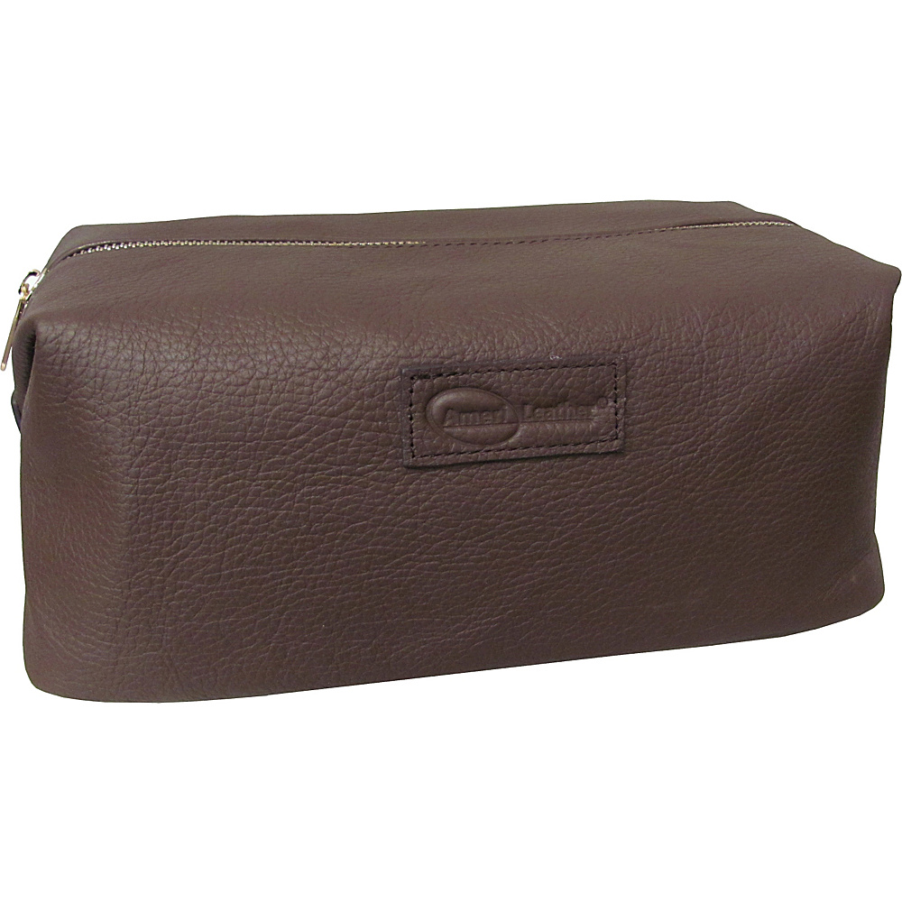AmeriLeather Cosmetic/Travel Accessory Bag Brown - AmeriLeather Toiletry Kits - Travel Accessories, Toiletry Kits