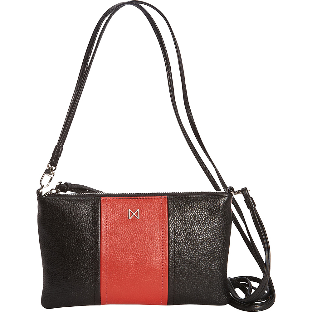 MOFE Kinetic Crossbody Black Tomato Matte Nickel MOFE Leather Handbags
