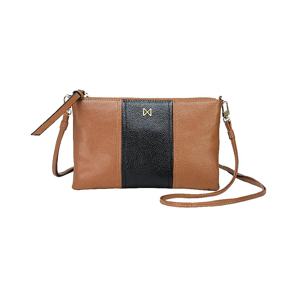 MOFE Kinetic Crossbody Brown Black Gold MOFE Leather Handbags