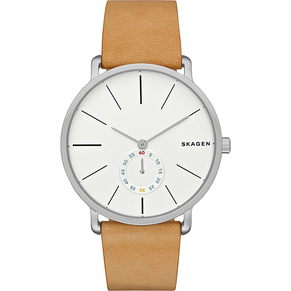 Skagen Hagen Multifunction Leather Watch Light Brown Skagen Watches