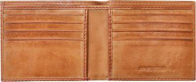 Rawlings Baseball Stitch Bi-Fold Wallet Tan - Rawlings Men's Wallets