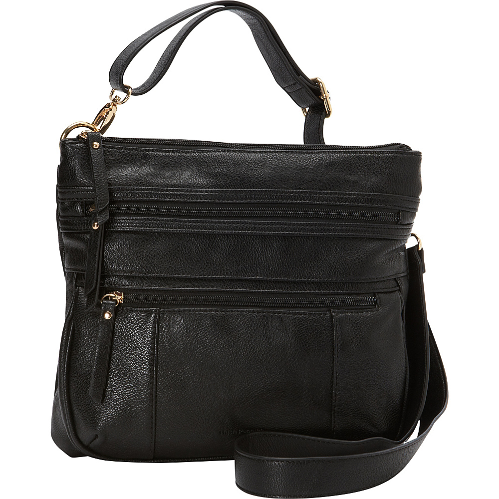 Hush Puppies Multi-Compartment Crossbody Black - Hush Puppies Manmade Handbags