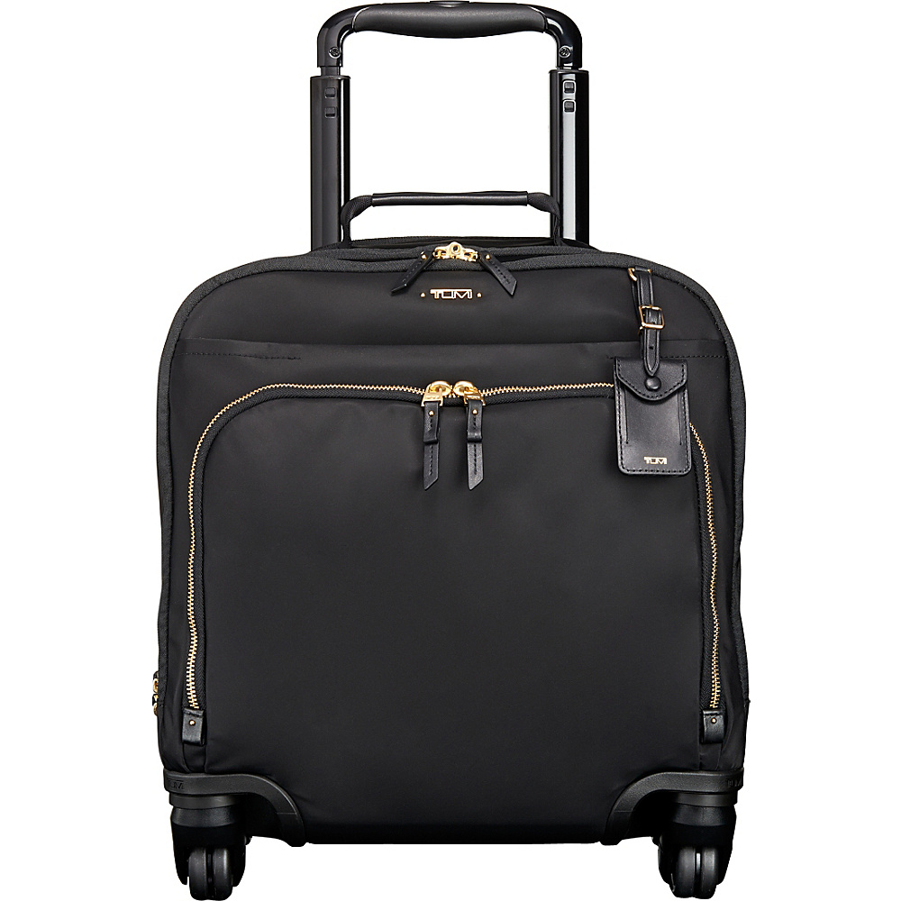 Tumi Voyageur Oslo 4 Wheel Compact Carry On Black - Tumi Softside Carry-On