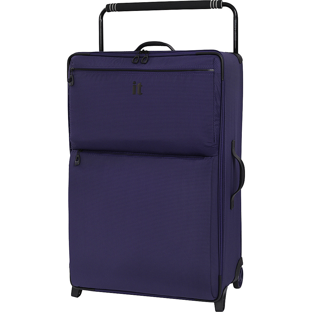 it luggage Worlds Lightest Los Angeles 2 Wheel 32.5 inch Upright Queen Purple - it luggage Softside Checked