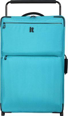 it luggage Worlds Lightest Los Angeles 2 Wheel 32.5 inch Upright Turquoise 2 Tone - it luggage Softside Checked