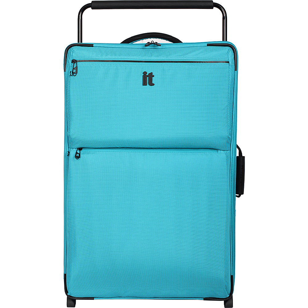 it luggage Worlds Lightest Los Angeles 2 Wheel 32.5 inch Upright Turquoise 2 Tone it luggage Softside Checked