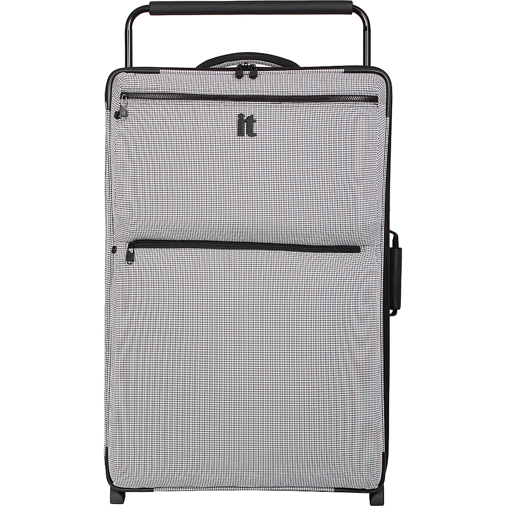it luggage Worlds Lightest Los Angeles 2 Wheel 32.5 inch Upright Black White 2 Tone it luggage Softside Checked