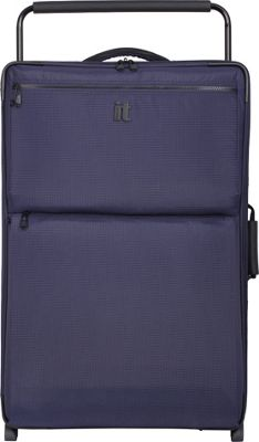 it luggage Worlds Lightest Los Angeles 2 Wheel 32.5 inch Upright Navy/Blue 2 Tone - it luggage Softside Checked