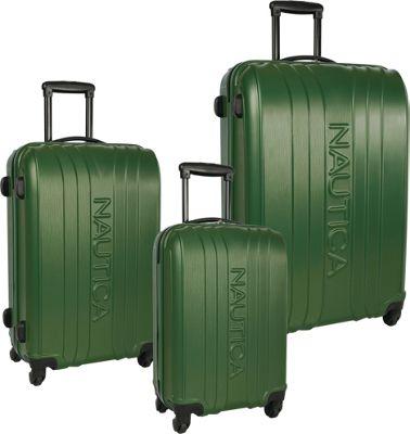 Nautica True Winds Three Piece Set Pacific Pine - Nautica Luggage Sets