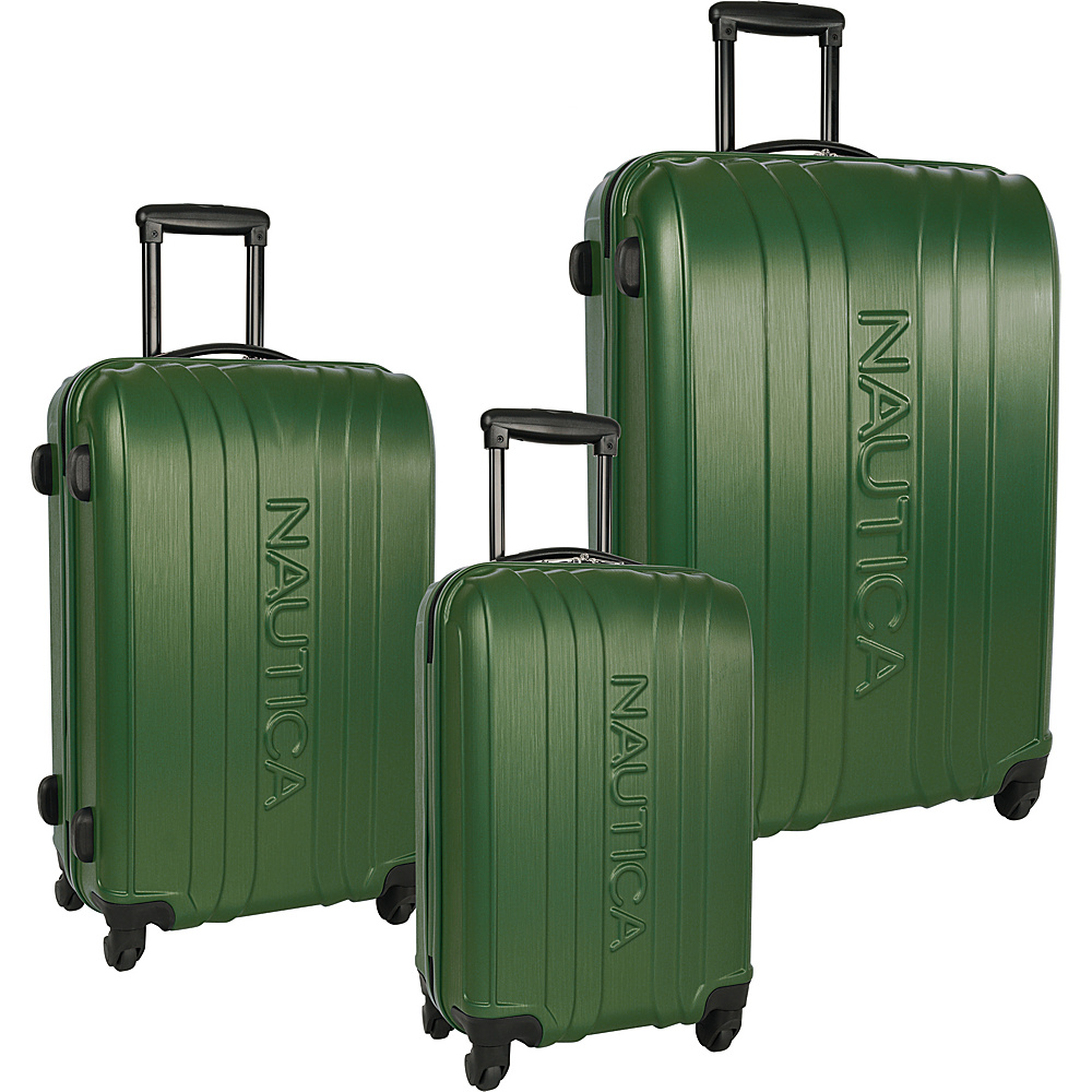 Nautica True Winds Three Piece Set Pacific Pine - Nautica Luggage Sets