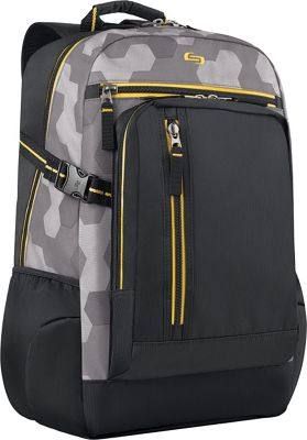 SOLO Quantum 15.6 inch Backpack Yellow - SOLO Business & Laptop Backpacks
