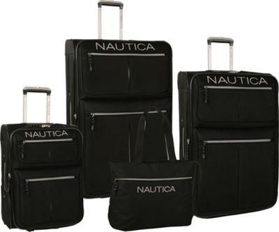 Nautica Maritime 2 Four Piece Luggage Set BlackSilver - Nautica Luggage Sets