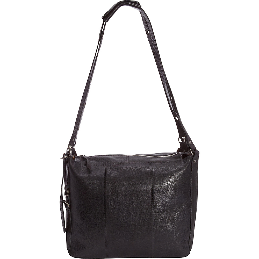 Latico Leathers Renwick Shoulder Bag Black - Latico Leathers Leather Handbags - Handbags, Leather Handbags