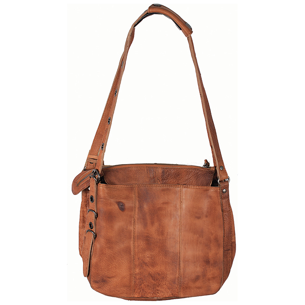 Latico Leathers Renwick Shoulder Bag Tan - Latico Leathers Leather Handbags - Handbags, Leather Handbags