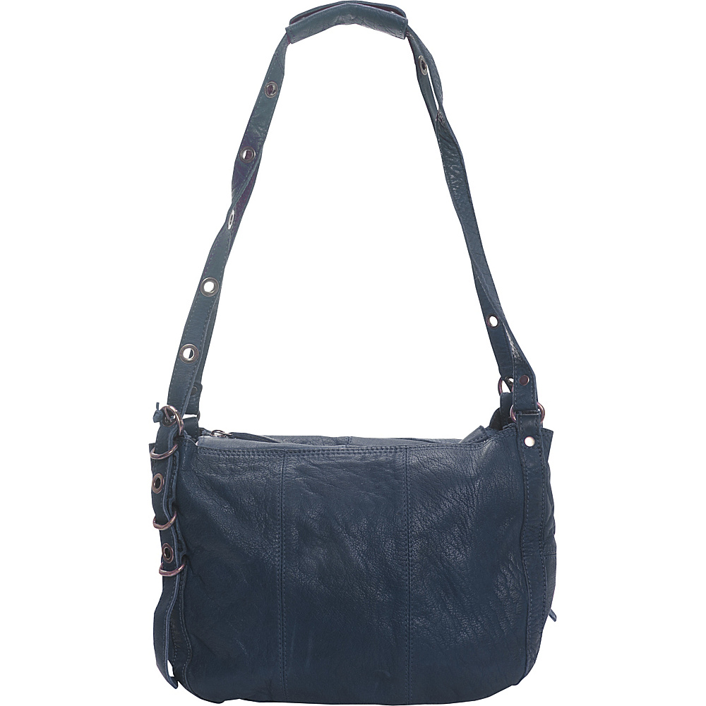 Latico Leathers Renwick Shoulder Bag Navy - Latico Leathers Leather Handbags - Handbags, Leather Handbags