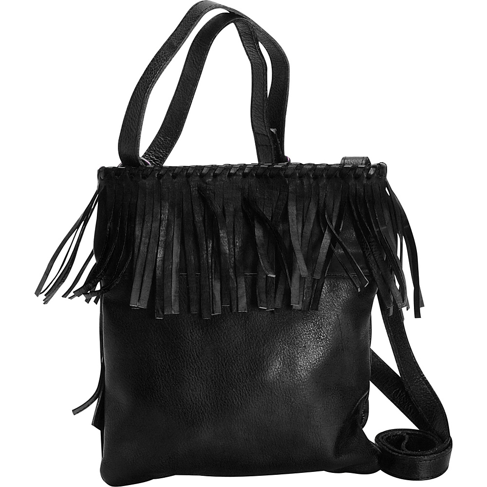 Latico Leathers Vestry Crossbody Pebble Black - Latico Leathers Leather Handbags - Handbags, Leather Handbags