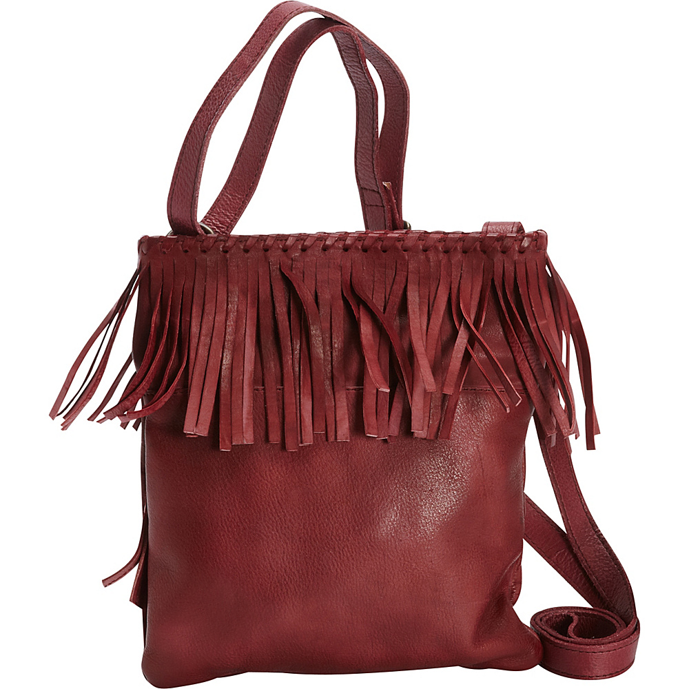 Latico Leathers Vestry Crossbody Crinkle Burgundy - Latico Leathers Leather Handbags - Handbags, Leather Handbags