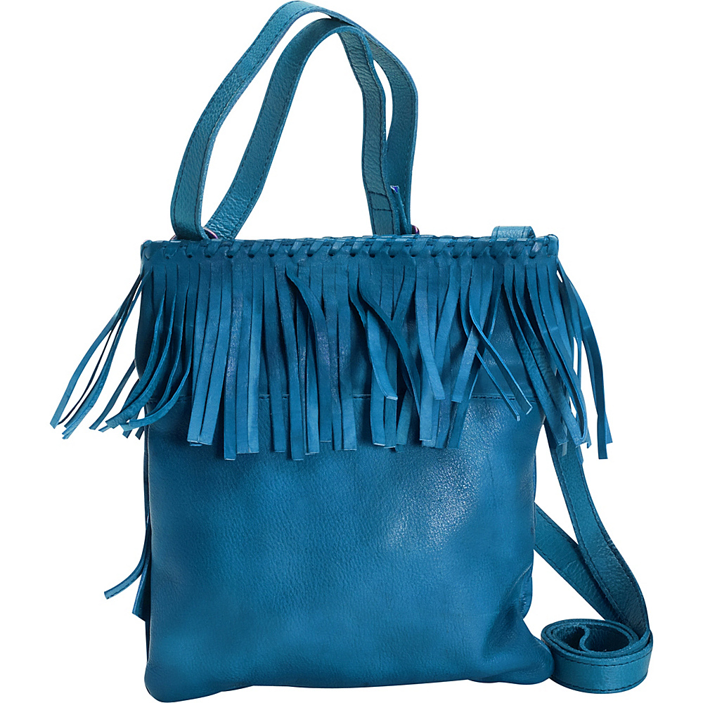 Latico Leathers Vestry Crossbody Crinkle Blue - Latico Leathers Leather Handbags - Handbags, Leather Handbags