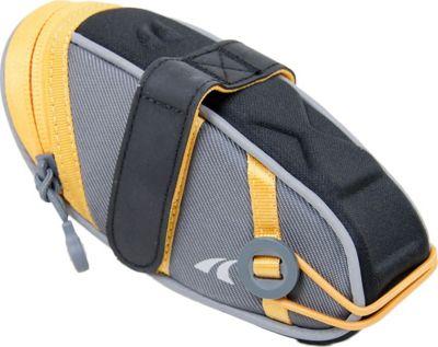 Detours Wedgie Seat Bag - Medium Gray/Orange - Detours Cycling Bags