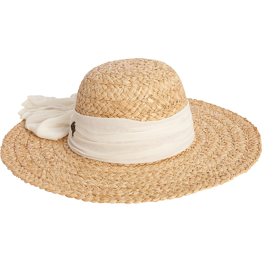 Sun N Sand Organic Raffia Hat One Size - White - Sun N Sand Hats/Gloves/Scarves - Fashion Accessories, Hats/Gloves/Scarves