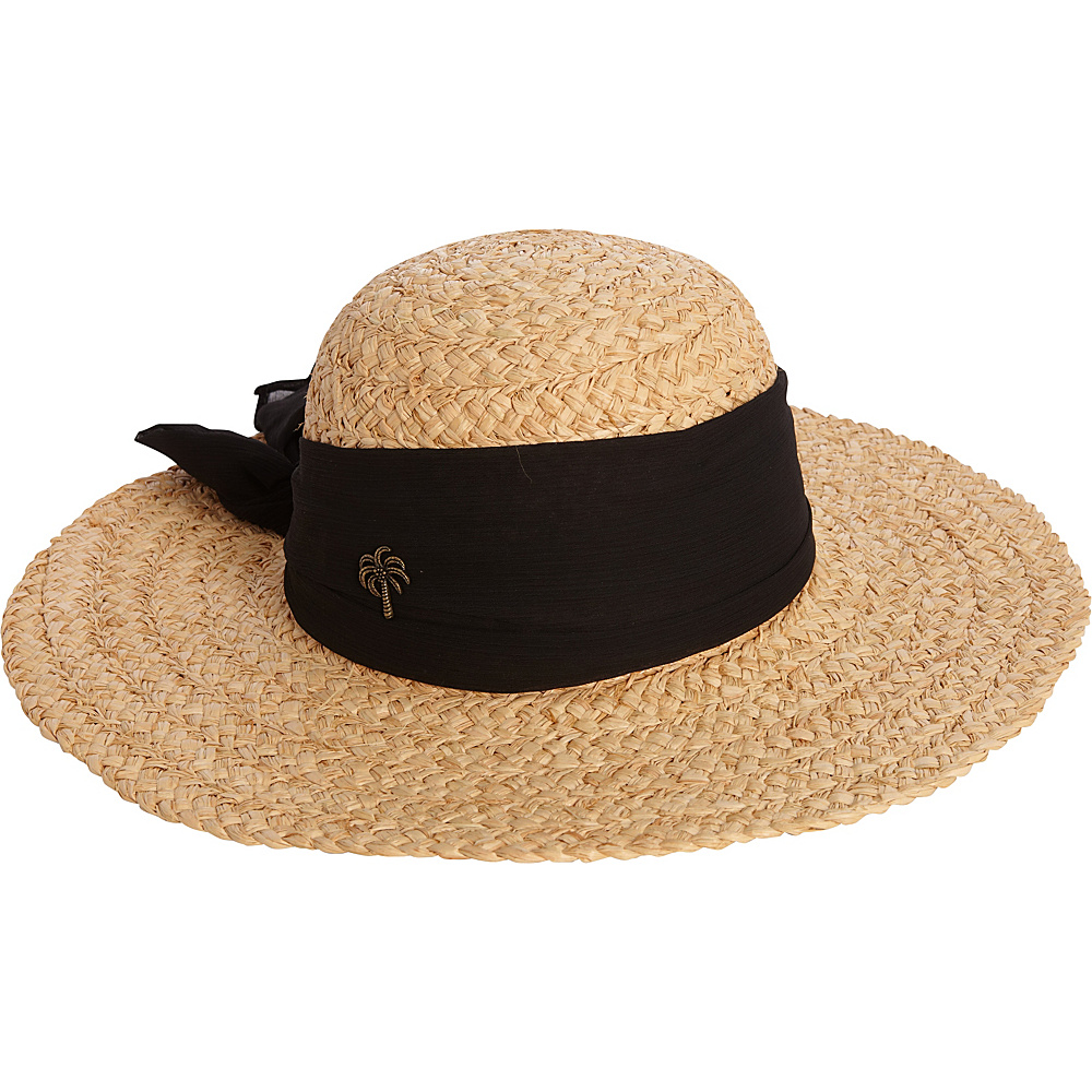 Sun N Sand Organic Raffia Hat One Size - Black - Sun N Sand Hats/Gloves/Scarves - Fashion Accessories, Hats/Gloves/Scarves