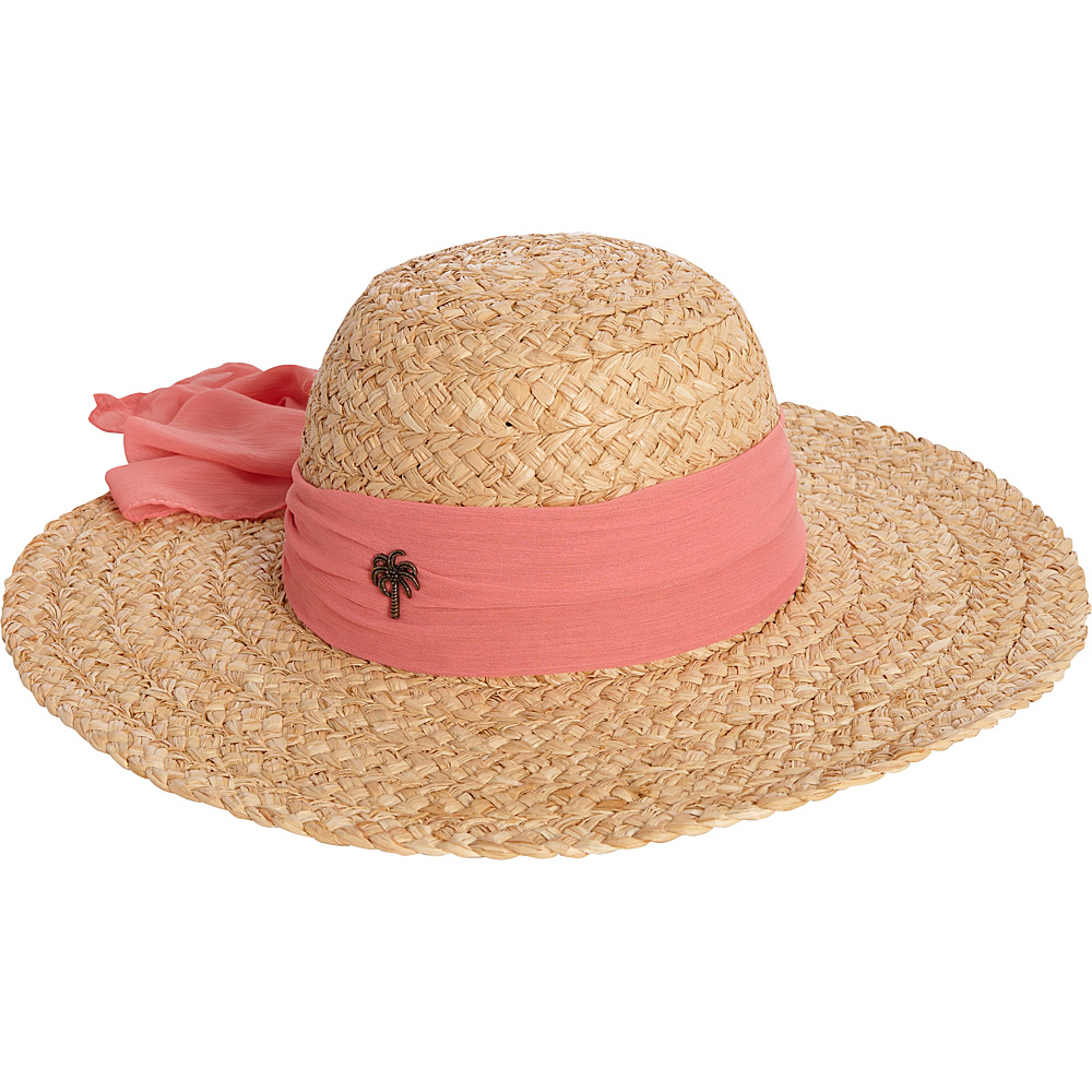 Sun N Sand Organic Raffia Hat One Size - Coral - Sun N Sand Hats/Gloves/Scarves - Fashion Accessories, Hats/Gloves/Scarves