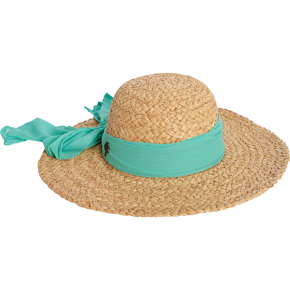 Sun N Sand Organic Raffia Hat One Size - Sea Foam - Sun N Sand Hats/Gloves/Scarves - Fashion Accessories, Hats/Gloves/Scarves