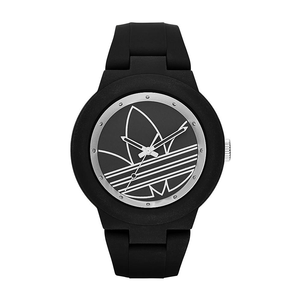 adidas watches Aberdeen Three Hand Silicone Watch Black/Silver - adidas watches Watches