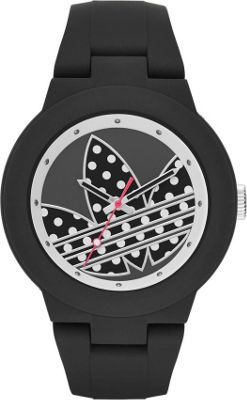 Image of adidas originals Watches Aberdeen Three Hand Silicone Watch Black/Silver/Dots - adidas originals Watches Watches