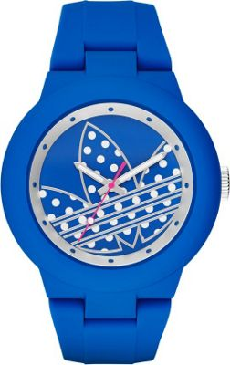 Image of adidas originals Watches Aberdeen Three Hand Silicone Watch Blue/Silver - adidas originals Watches Watches