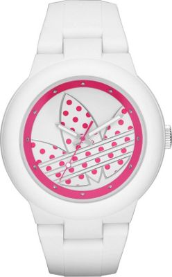 Image of adidas originals Watches Aberdeen Three Hand Silicone Watch White/Pink - adidas originals Watches Watches