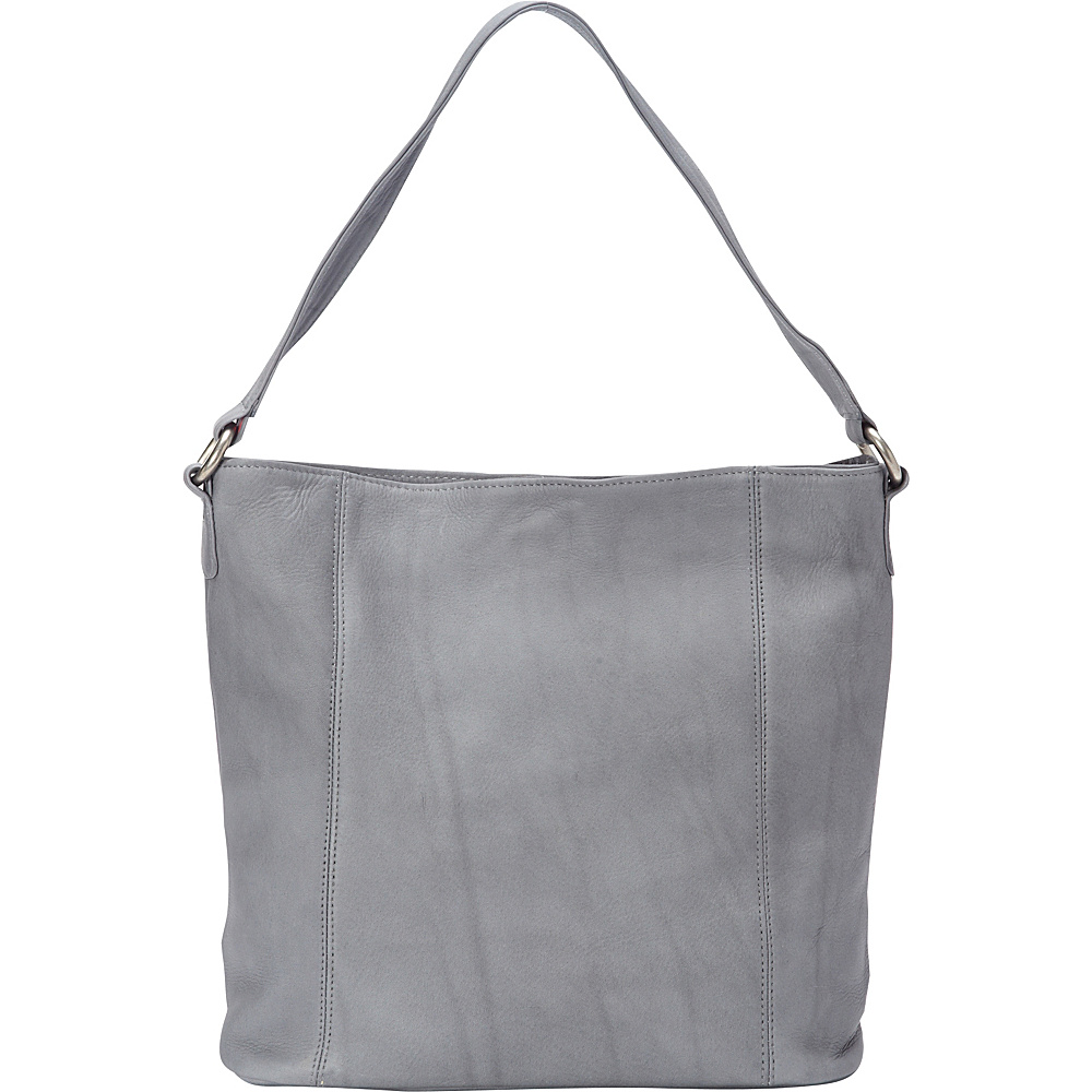 Le Donne Leather Ashley Shopper Gray - Le Donne Leather Leather Handbags - Handbags, Leather Handbags