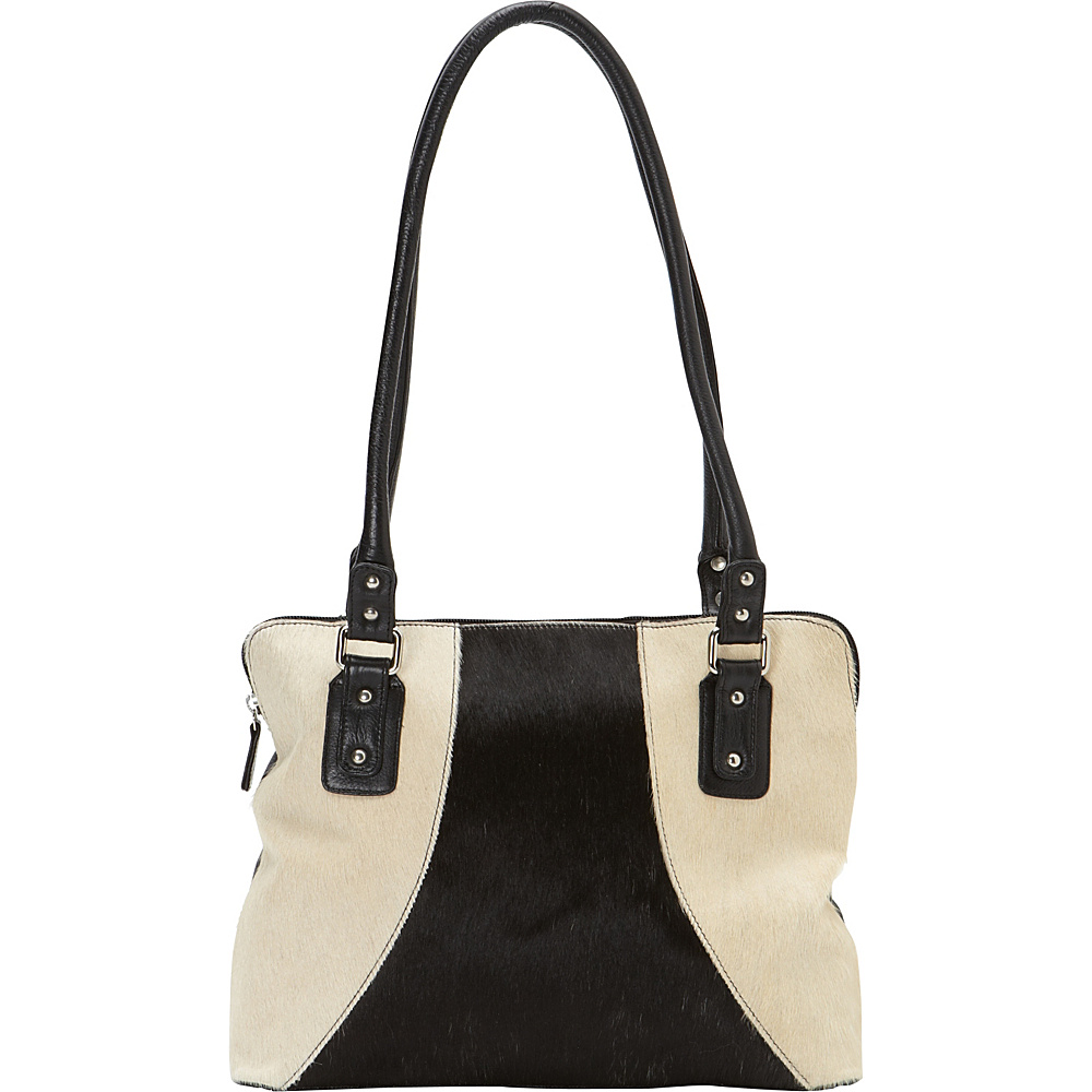 Scully Haircalf Shoulder Bag White Scully Leather Handbags