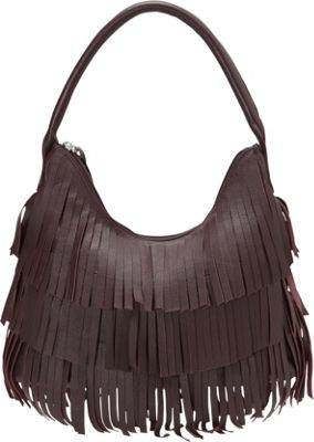 Scully Leather Fringe Hobo Plum - Scully Leather Handbags