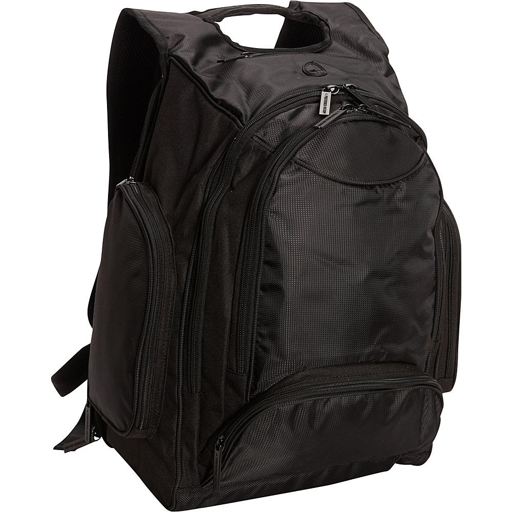 Bellino Onyx Computer Backpack Black - Bellino Business & Laptop Backpacks