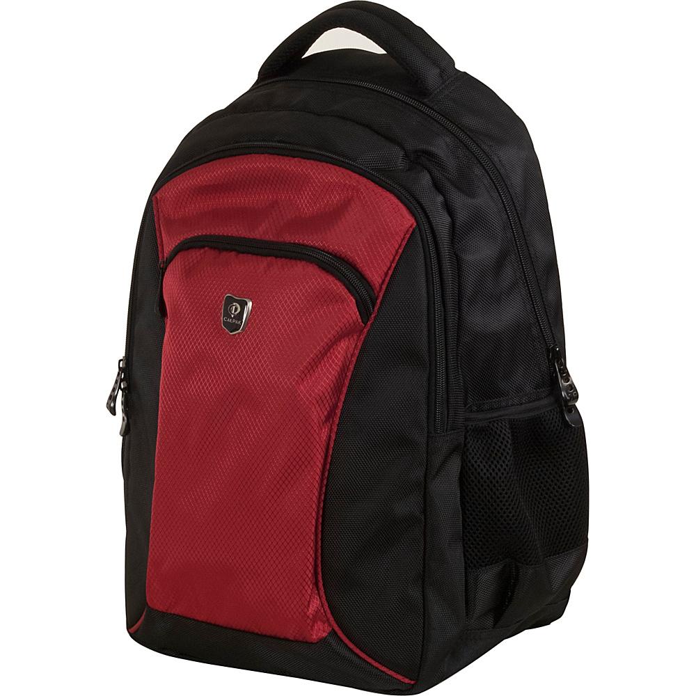 CalPak Sherman Lightweight Laptop Backpack Deep Red - CalPak Laptop Backpacks