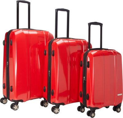McBrine Luggage A719  Expandable 3pc Luggage Set Red - Mc...