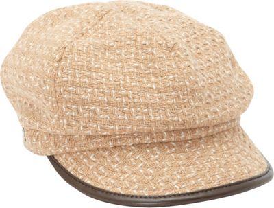Betmar New York Caron Wool Blend Cap One Size - Camel - B...