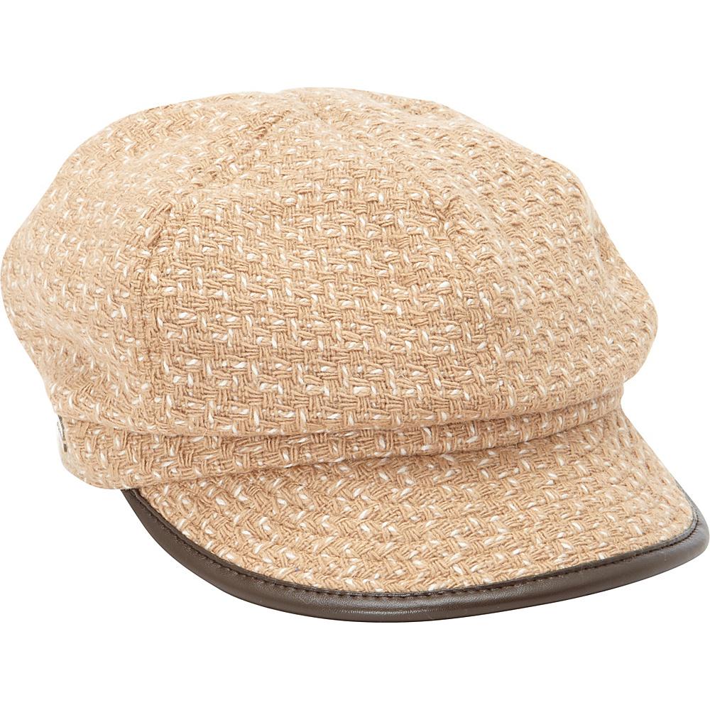 Betmar New York Caron Wool Blend Cap One Size - Camel - Betmar New York Hats/Gloves/Scarves