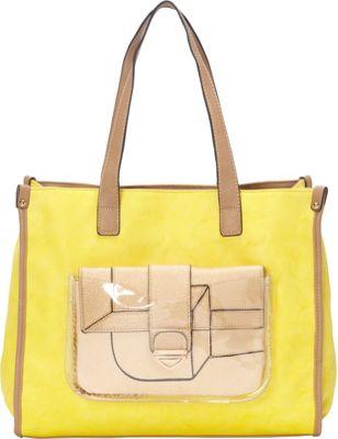 Donna Bella Designs Maisie Tote Yellow - Donna Bella Designs Manmade Handbags