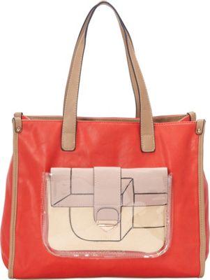 Donna Bella Designs Maisie Tote Watermelon - Donna Bella Designs Manmade Handbags