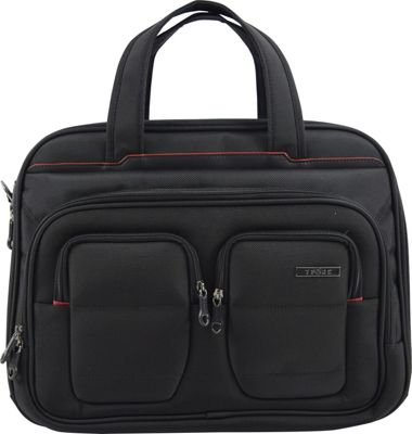 Travelers Club Luggage 17 inch Flex-File Laptop Briefcase Black - Travelers Club Luggage Non-Wheeled Business Cases