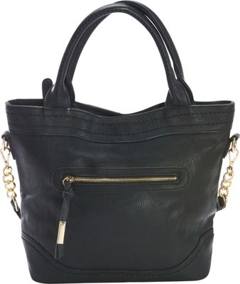 Diophy Chain Shoulder Tote Black - Diophy Manmade Handbags