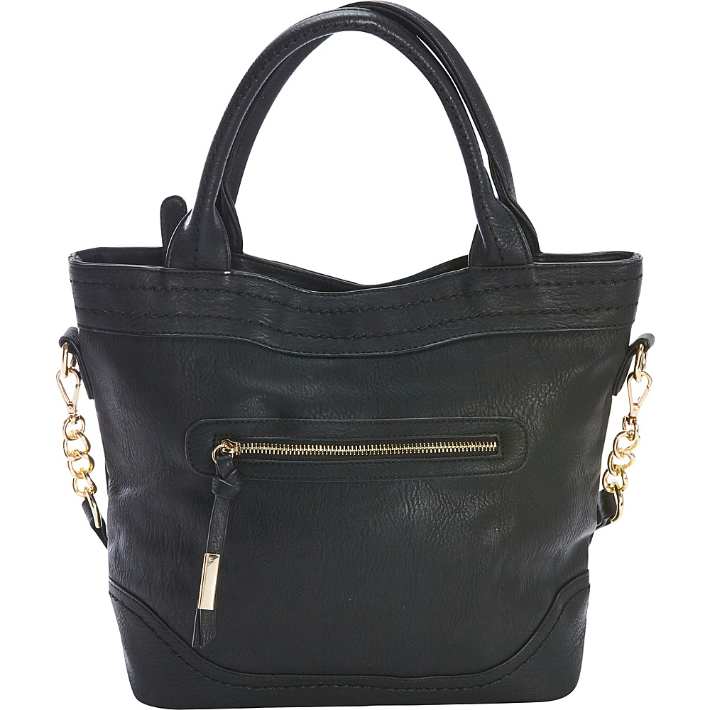 Diophy Chain Shoulder Tote Black Diophy Manmade Handbags