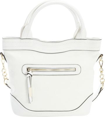 Diophy Chain Shoulder Tote White - Diophy Manmade Handbags