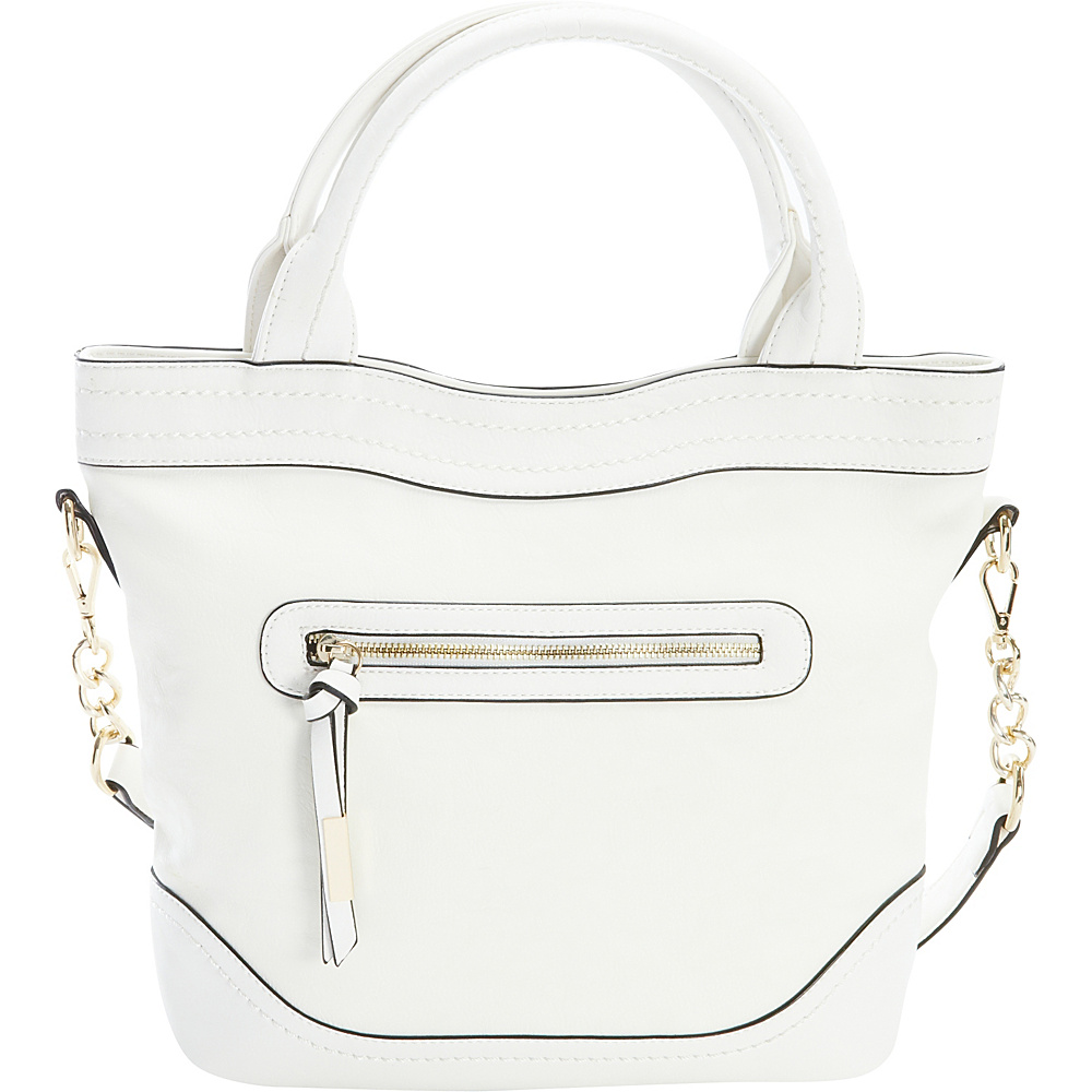 Diophy Chain Shoulder Tote White Diophy Manmade Handbags