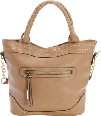 Diophy Chain Shoulder Tote Brown - Diophy Manmade Handbags